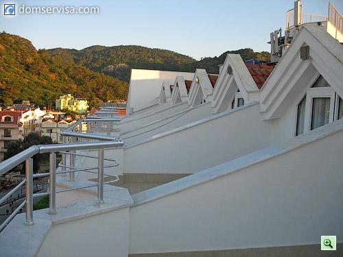 Балконы на крыше
