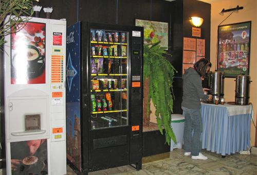 Бесплатный травяной чай в холле отеля