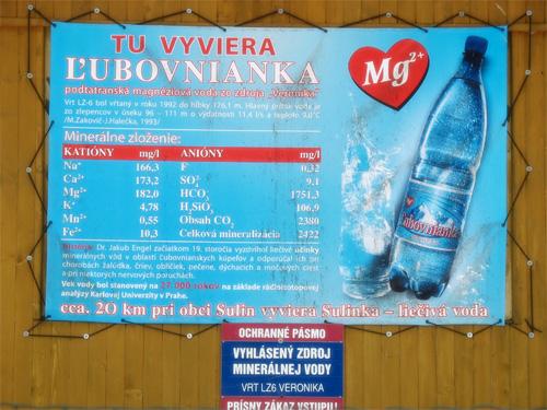 Состав минеральной газированной воды Любовнянка