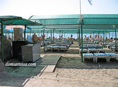 Вход на пляж Средиземного моря, Текирова, Турция