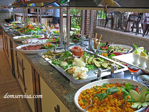 Салаты, жаренные овощи, аджика