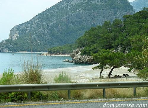 Турция, пляж, море, горы