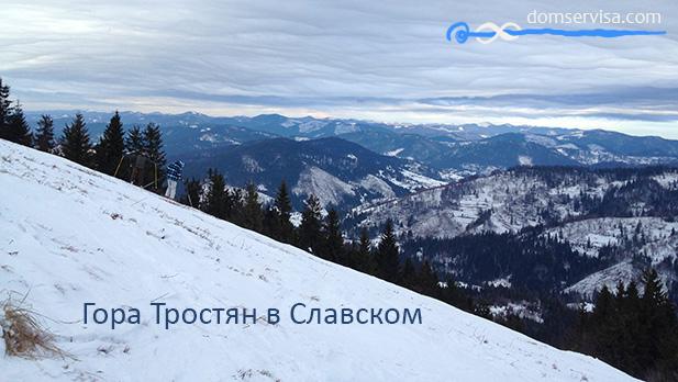 Гора Тростяна в Славском