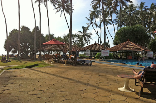 Территория отеля Tangerine Beach