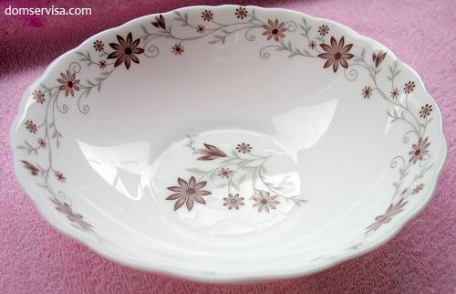 Глубокая керамостеклянная тарелка Indigo