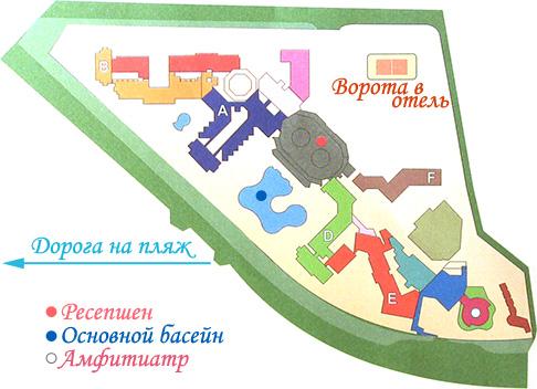 Карта отеля Tiran Island, Шарм